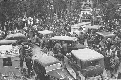 Nationalisterne rykker ind i bilbao, juni 1937. den spanske borgerkrig