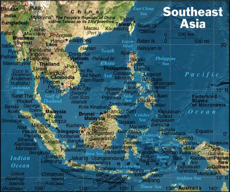 Sydostasien Oversigtskort