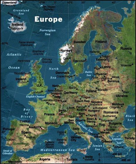 Europa Oversigtskort