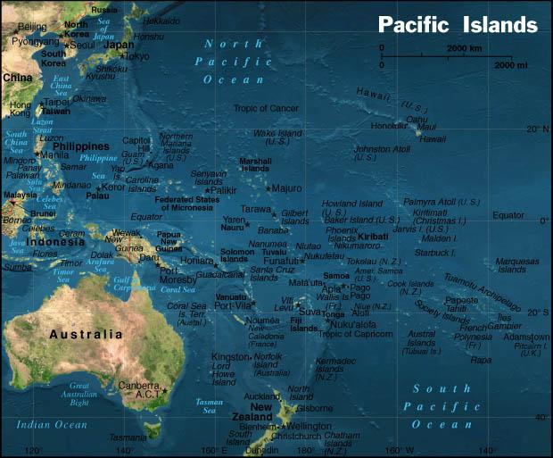 Stillehavet Oversigtskort